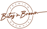 Logo Bites 'n Brown - Premium Choco Brownies