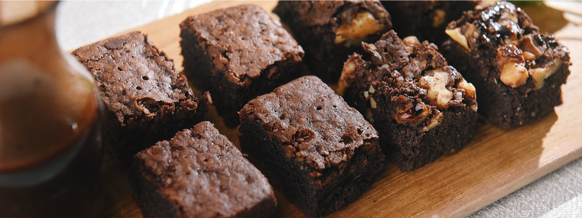 Banner Bites 'n Brown - Premium Choco Brownies